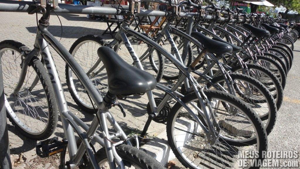 Bicicletas no Trapiche da Av. Beira-Mar Norte