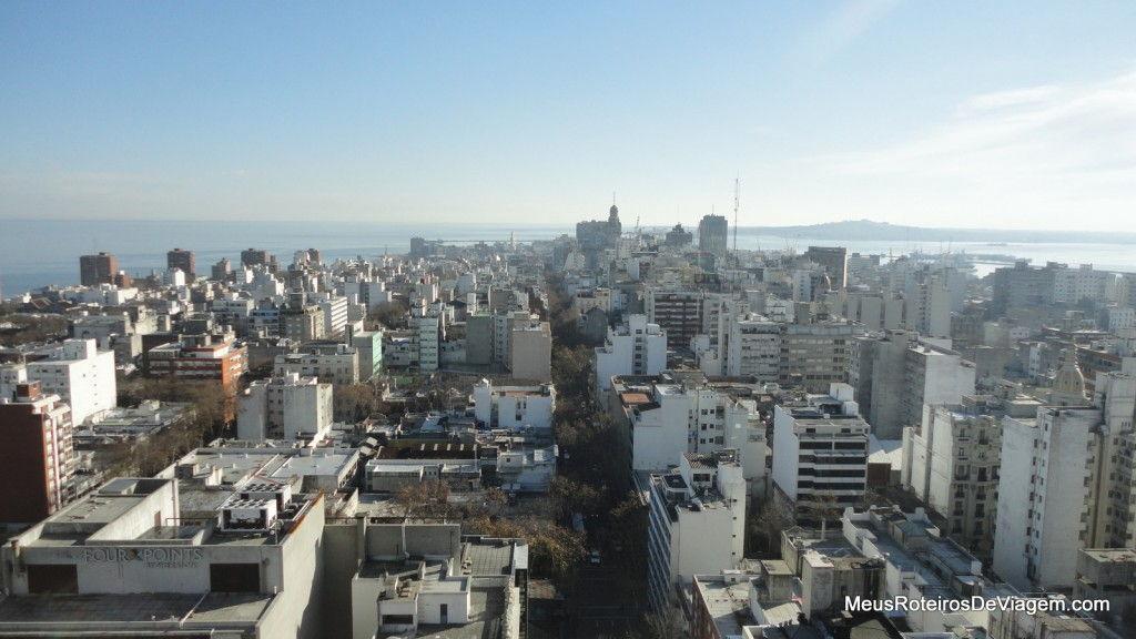 Vista panorâmica de Montevidéu