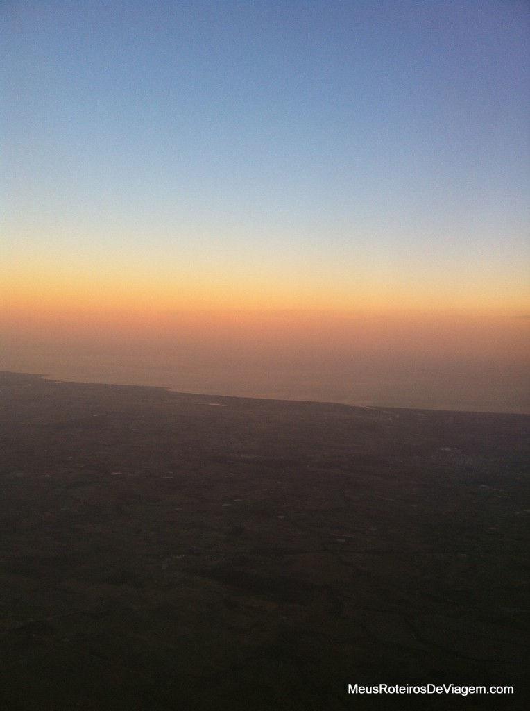 Por do sol no Rio Grande do Sul