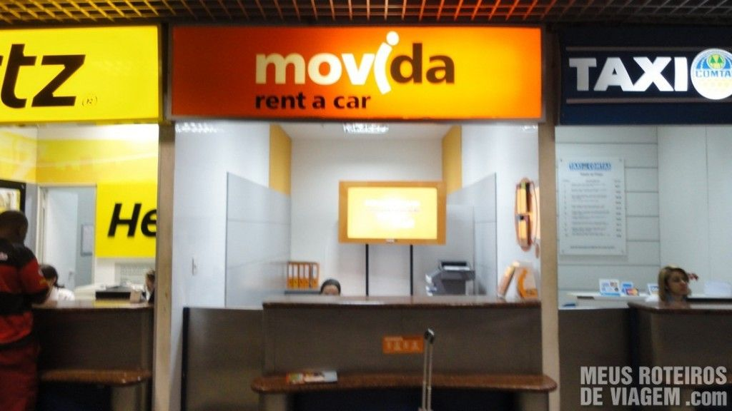Locadoras no Aeroporto de Salvador