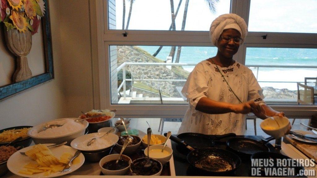 Café da manhã do Hotel Mercure Salvador Rio Vermelho