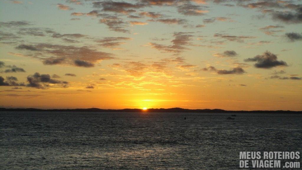 Por do sol no Farol da Barra - Salvador, Bahia