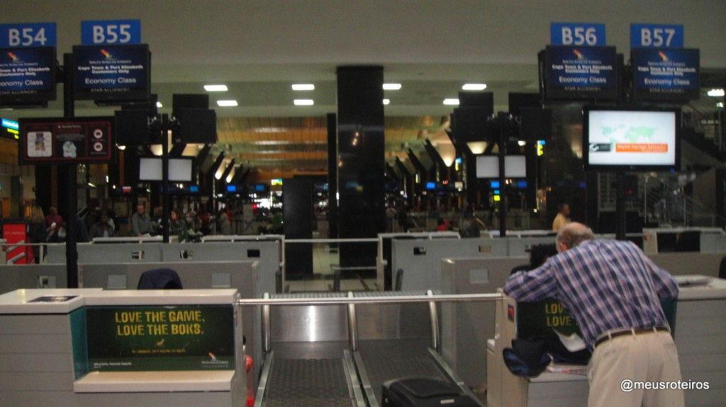 Balcões de Check-in da South African Airways - Joanesburgo