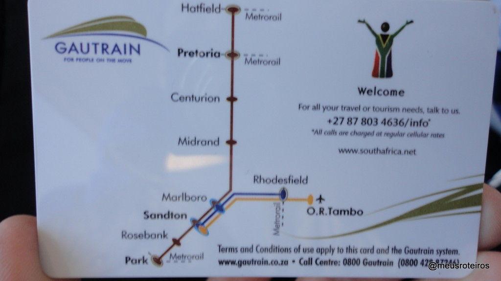 Mapa do Gautrain - Joanesburgo