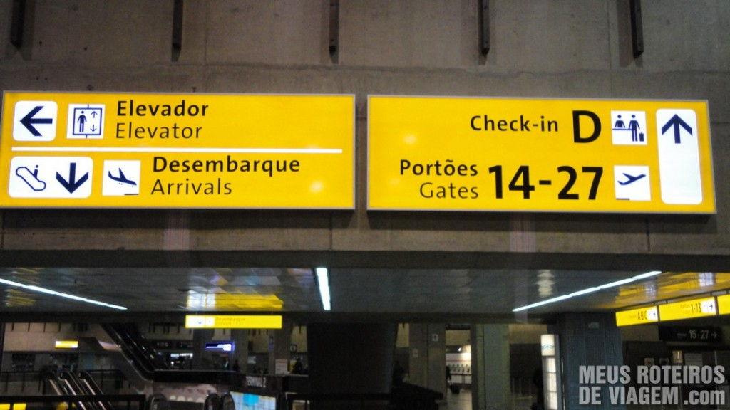 Nova sinalização no Aeroporto de Guarulhos - GRU Airport