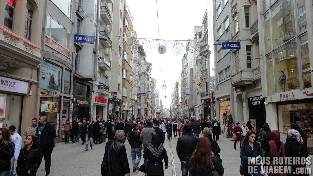 Avenida Istiklal - Istambul, Turquia