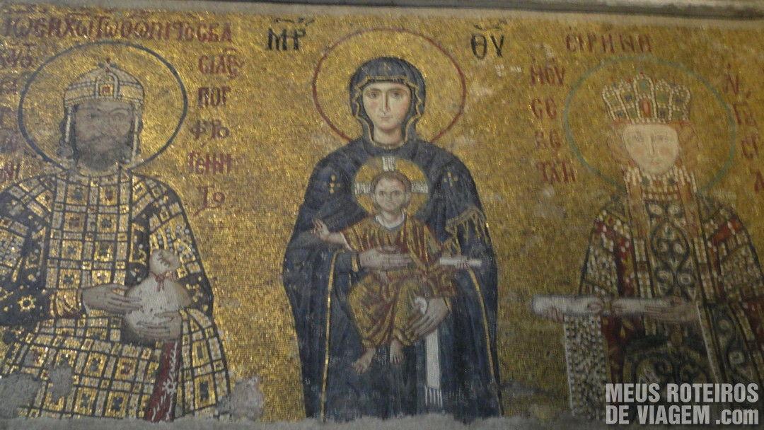 Mosaicos da Basílica de Santa Sofia - Istambul, Turquia