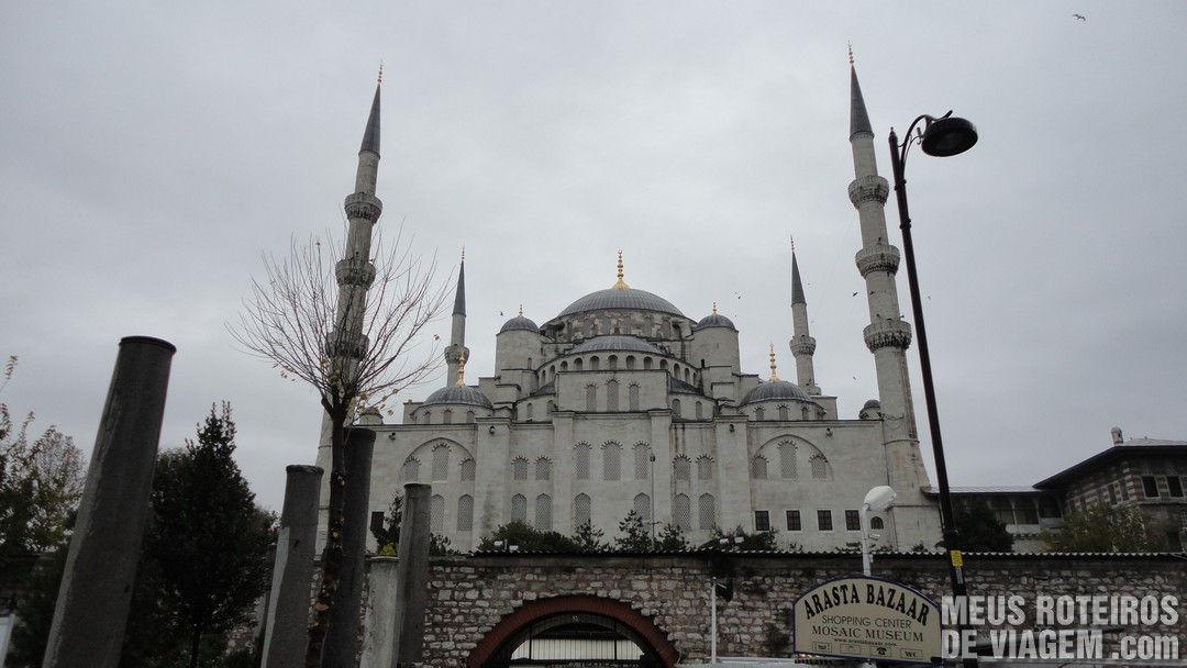 Mesquita Azul vista de trás - Istambul, Turquia