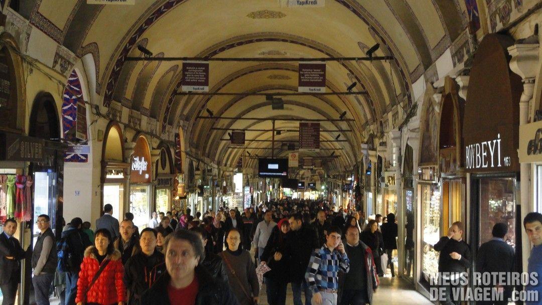 Corredor do Grande Bazar - Istambul, Turquia