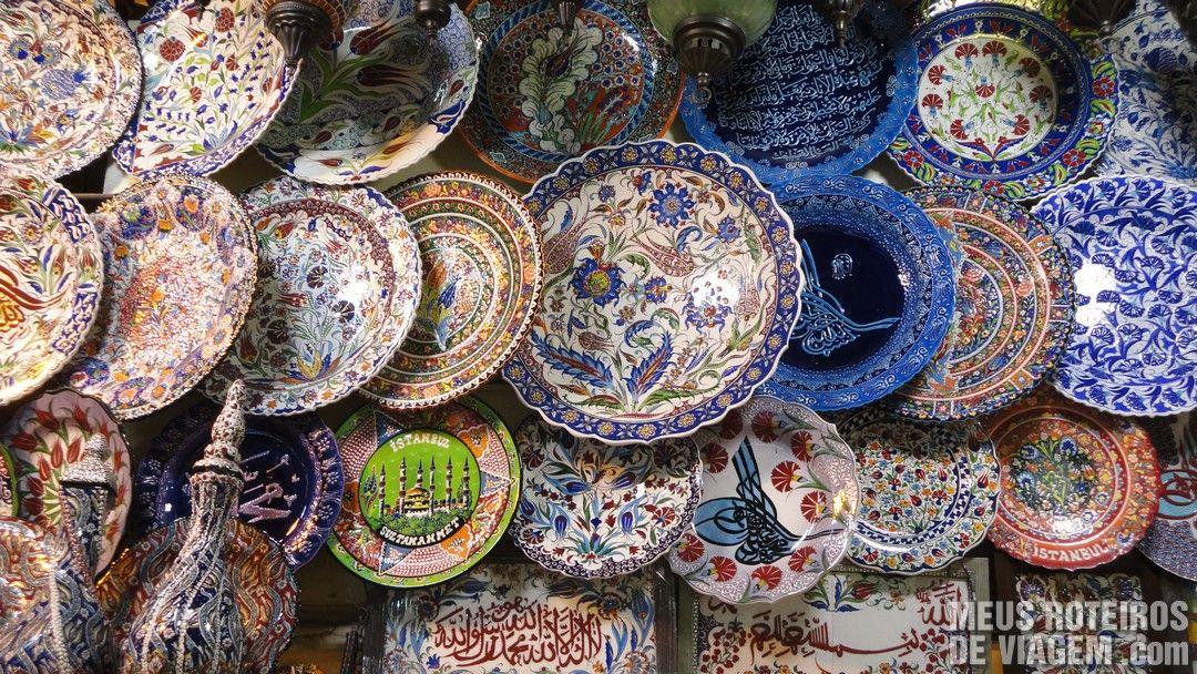 Objetos no Grande Bazar - Istambul, Turquia