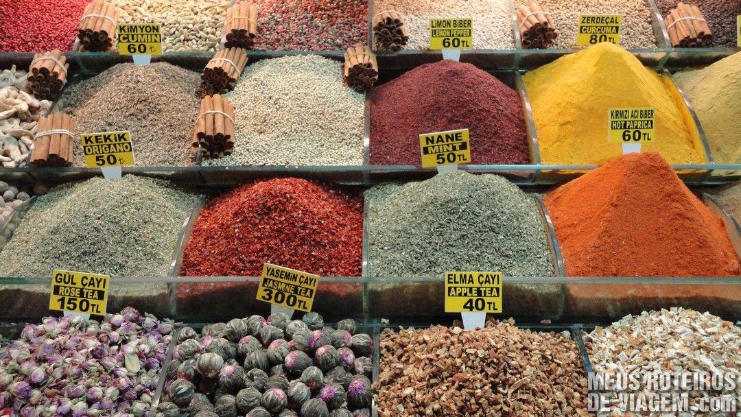 Temperos no Bazar de Especiarias - Istambul, Turquia