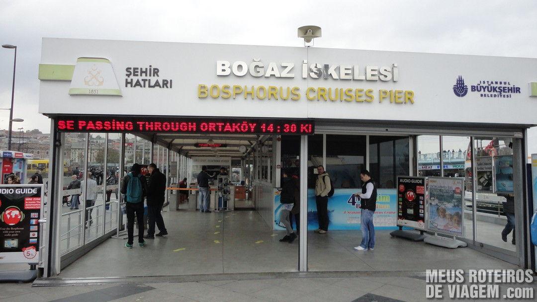 Terminal da empresa Sehir Hatlari - Istambul, Turquia