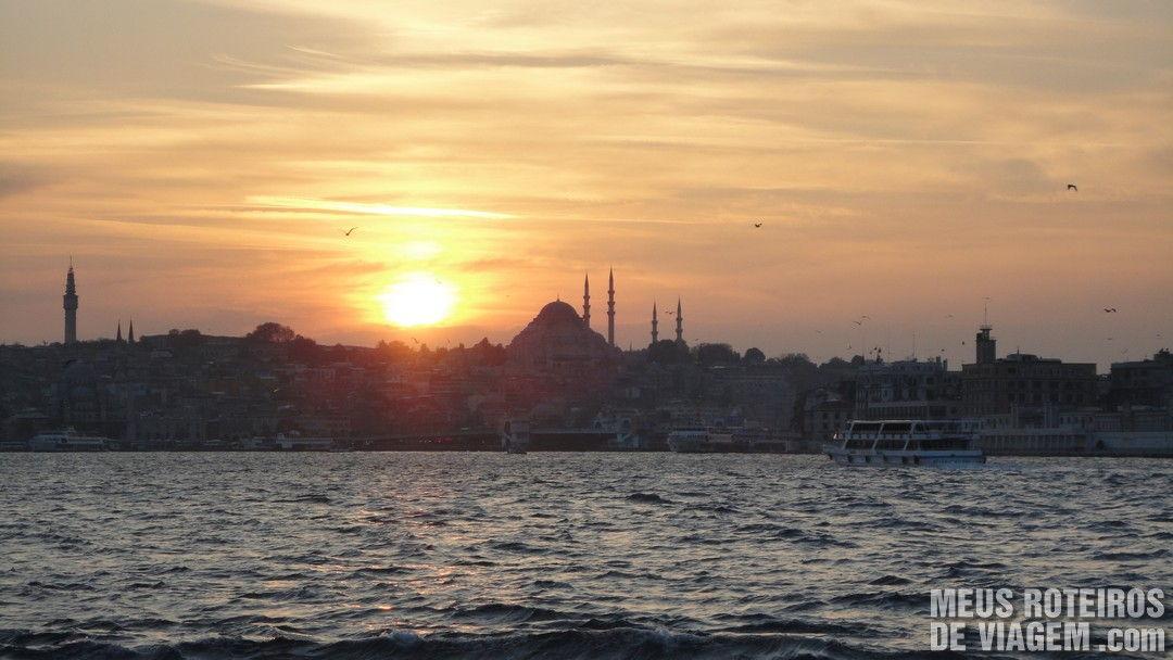 Por do sol em Istambul - Turquia