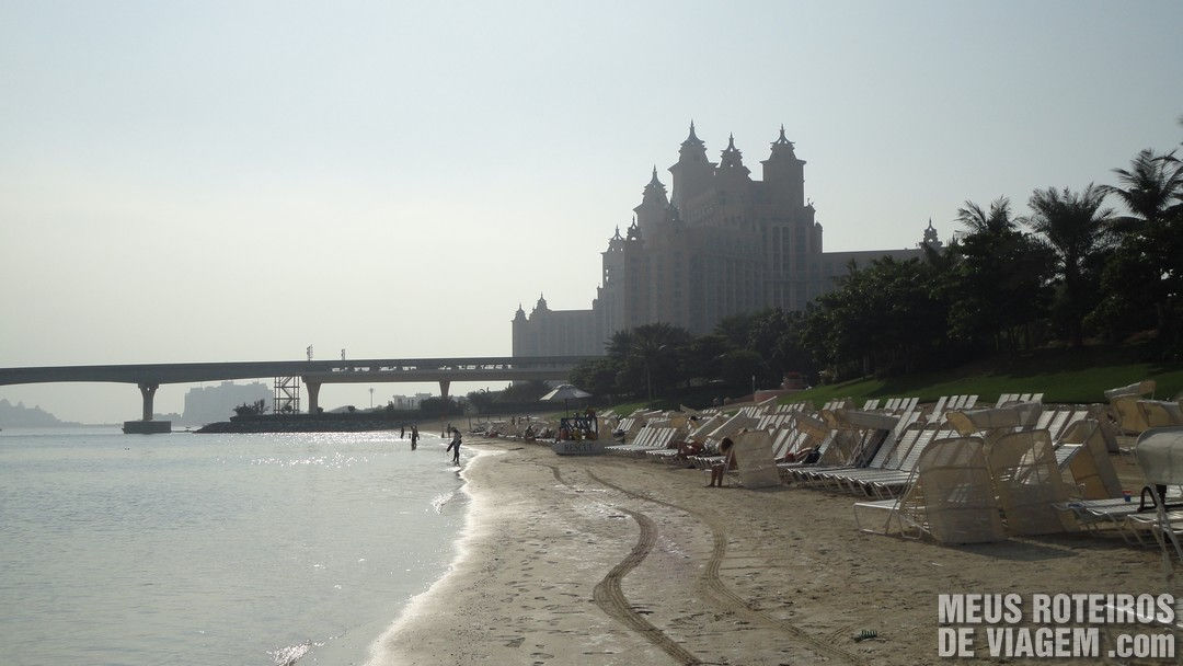 Praia do hotel Atlantis The Palm - Dubai