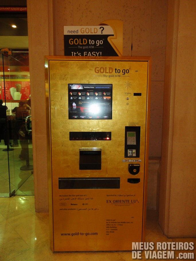 Caixa eletrônico de barras de ouro em Dubai