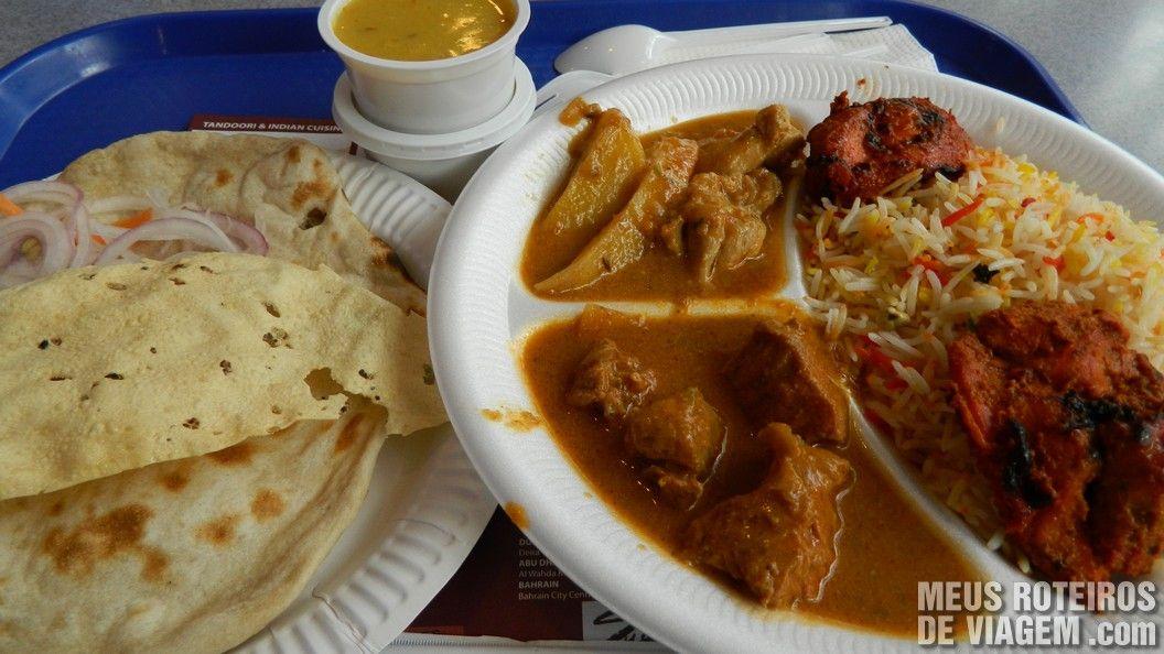 Prato indiano no BurJuman - 28 dhs (R$15,10)