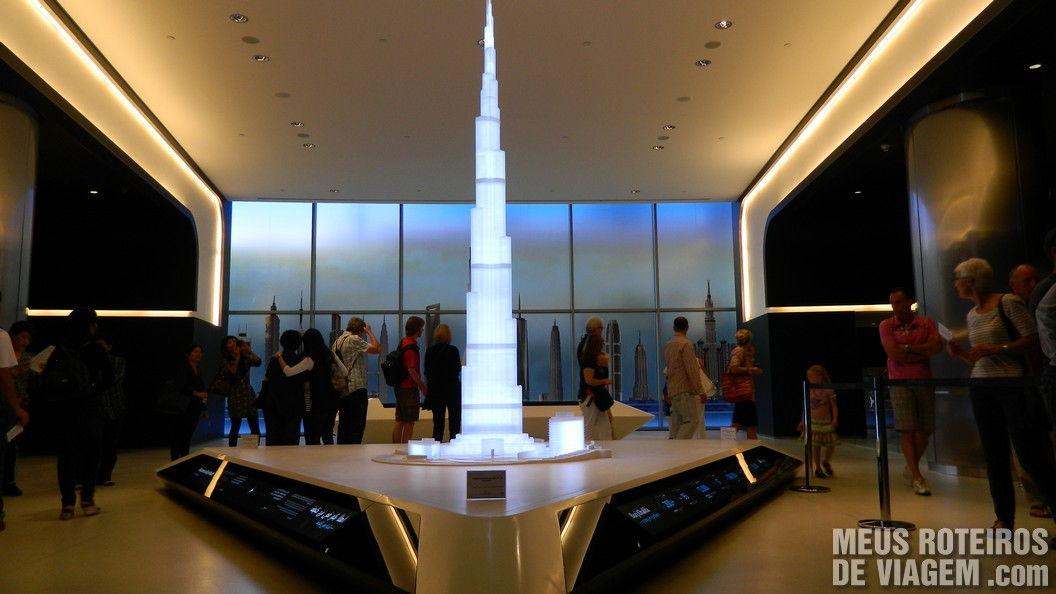 Maquete do Burj Khalifa - Dubai