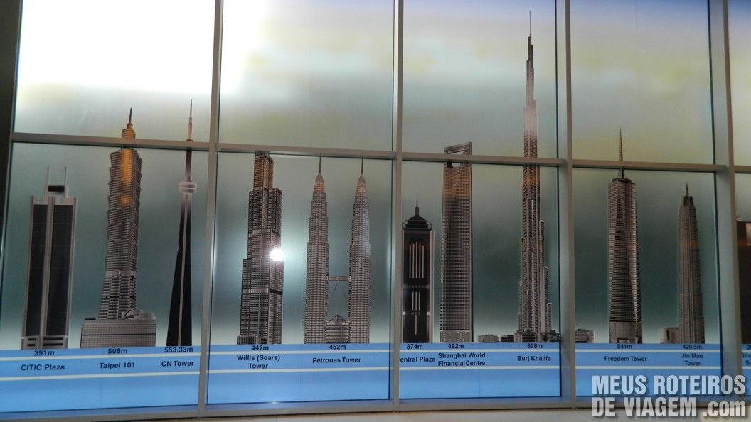 Torres do mundo e o Burj Khalifa