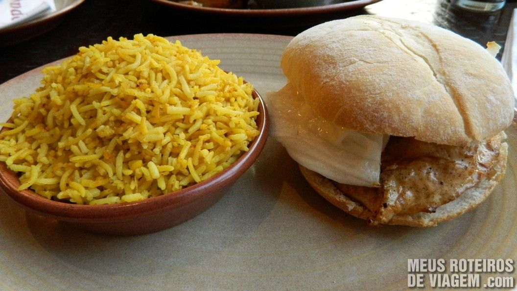 Chicken Burger no Nando's Dubai