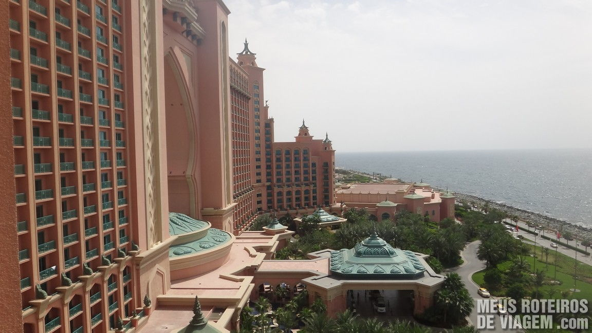 Vista do quarto do hotel Atlantis The Palm, Dubai