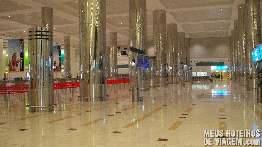 Imigração do terminal 3 - Aeroporto de Dubai