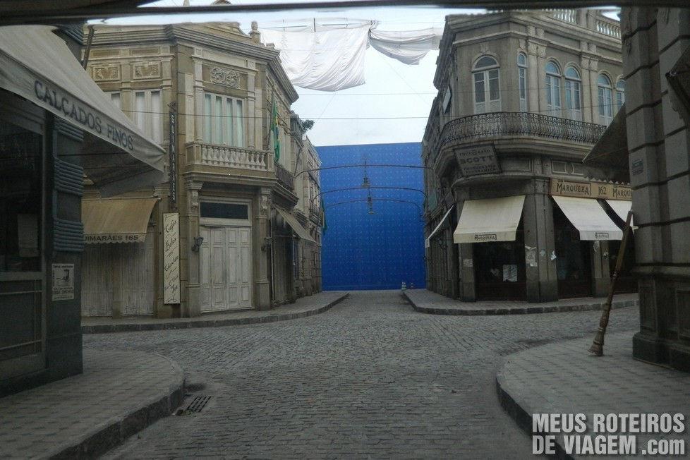 Cidade cenográfica no PROJAC - Rede Globo