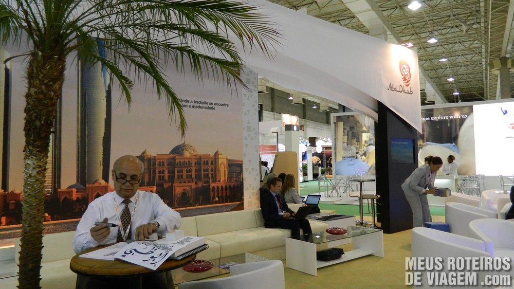 Estande de Abu Dhabi na WTM Latin America 2013