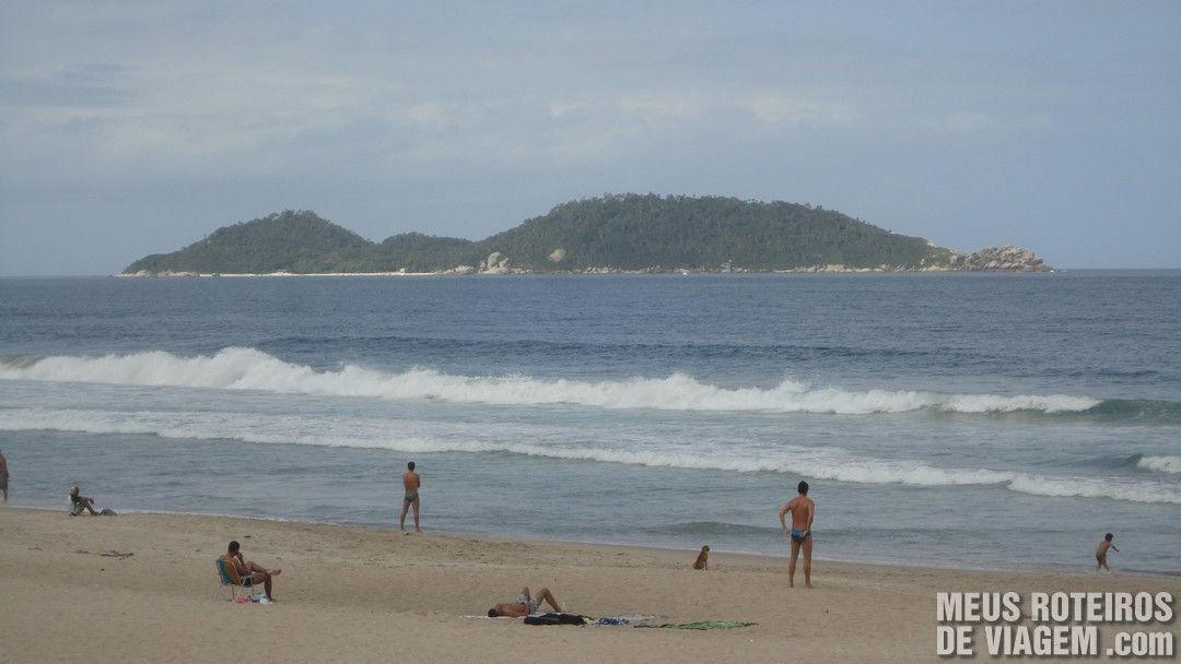 Praia do Campeche e a Ilha do Campeche