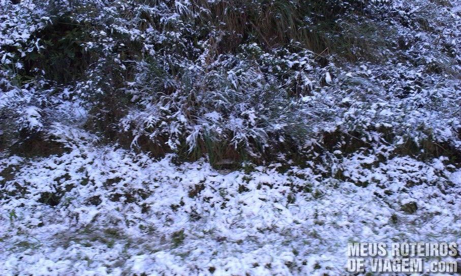 Neve em Rancho Queimado - Rodovia BR-282