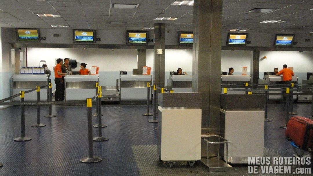 Check-in da Gol no aeroporto de Ezeiza - Buenos Aires