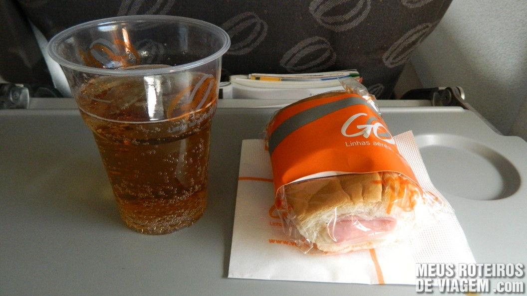 Lanche da Gol no voo para Buenos Aires