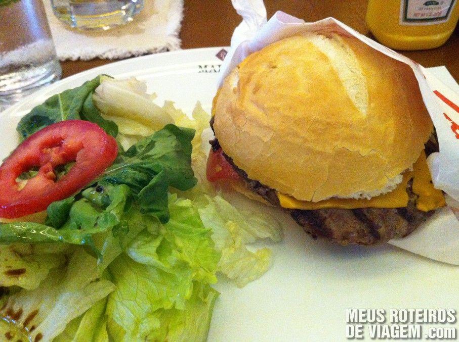 Hambúrguer no Madero Floripa