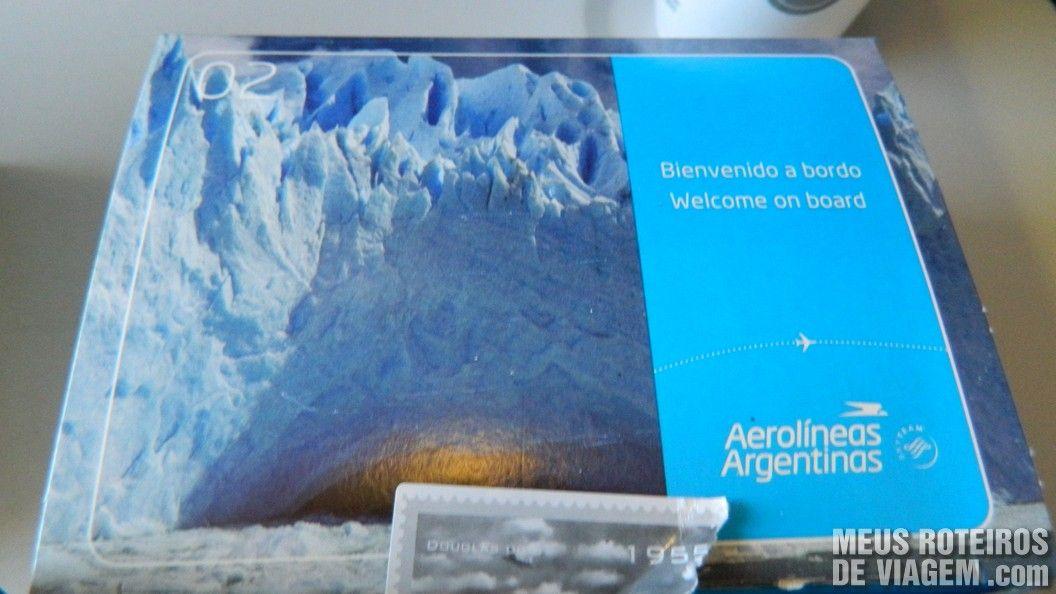 Lanche de bordo da Aerolineas Argentinas