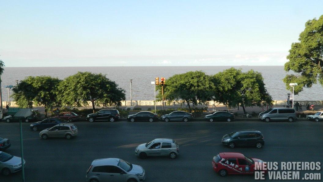 Rio da Prata visto do aeroporto Aeroparque - Buenos Aires