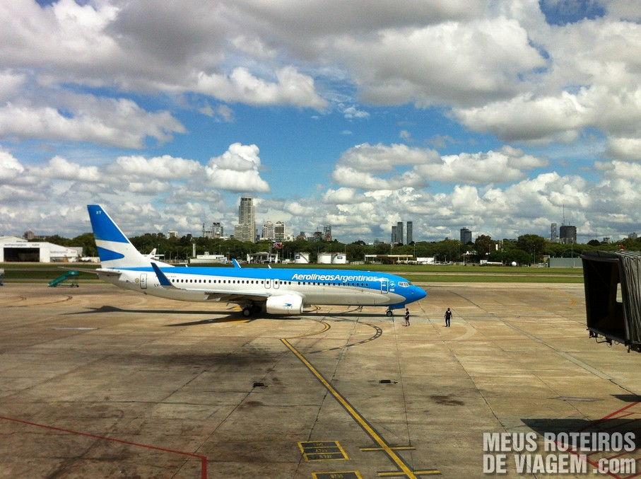 Avião da Aerolineas Argentinas no Aeroparque - Buenos Aires