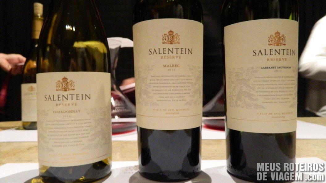 Vinhos tintos da degustação - Salentein Mendoza Argentina