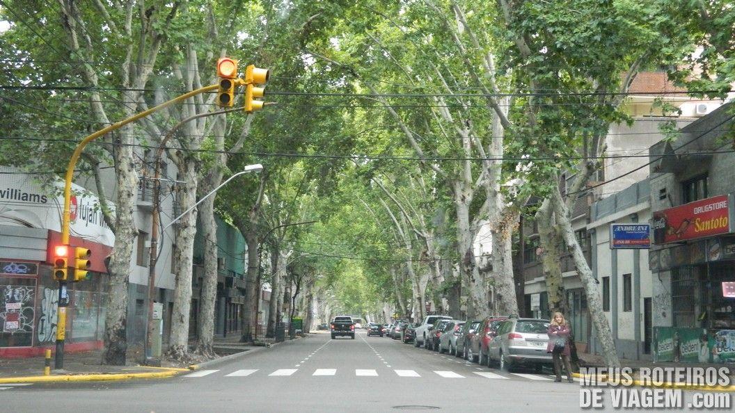 Rua no centro de Mendoza - Argentina