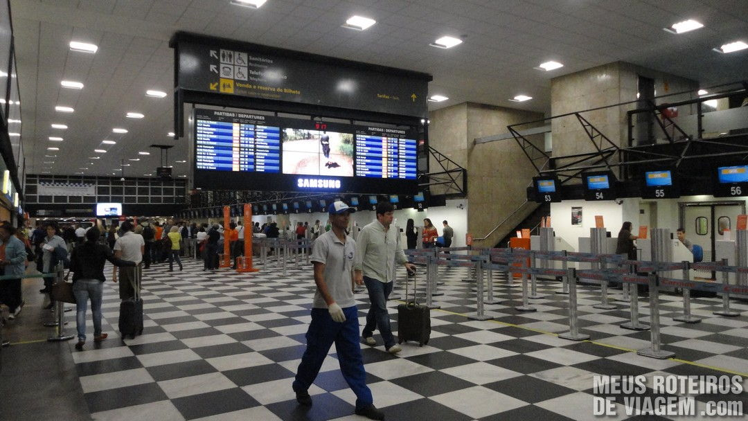 Área de check-in Aeroporto de Congonhas São Paulo
