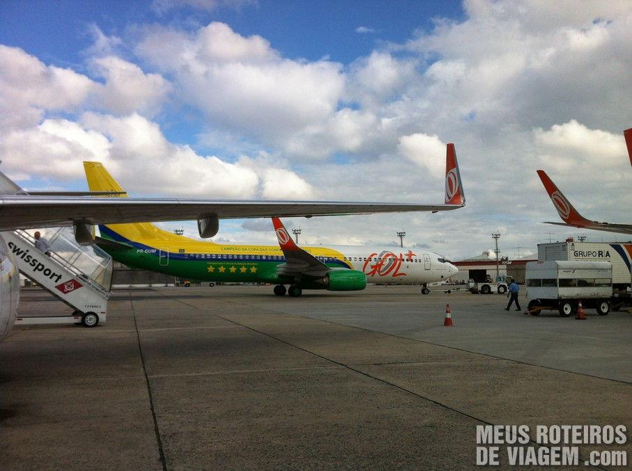 Aeronaves no Aeroporto de Congonhas São Paulo