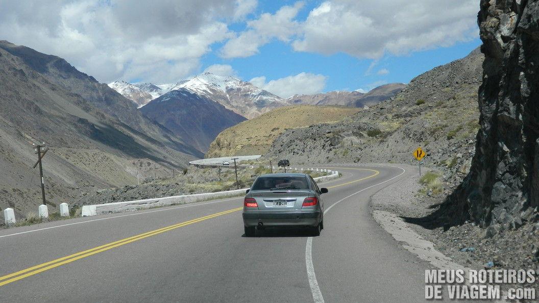 Ruta Nacional 7 Cordilheira dos Andes Argentina