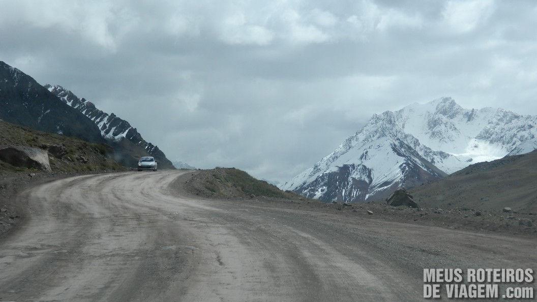 Estrada para o Cristo Redentor de Los Andes - Argentina