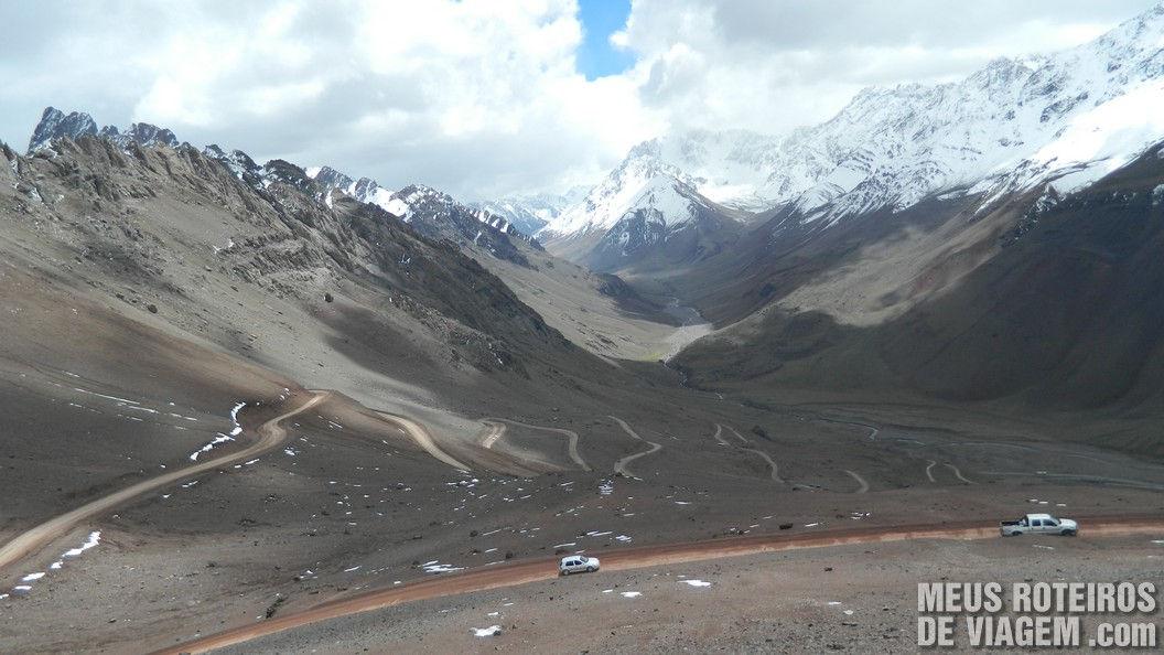 Estrada do Cristo Redentor de Los Andes - Cordilheira Argentina