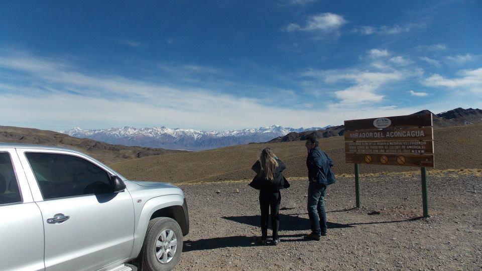 Mirante para o Monte Aconcágua na Reserva Natural Villavicencio (fonte: Nossa Mendoza)