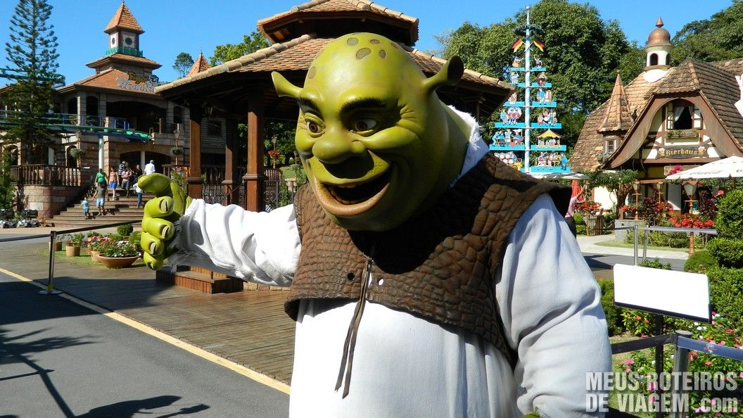 Personagens Shrek - Parque Beto Carrero World, Penha/SC