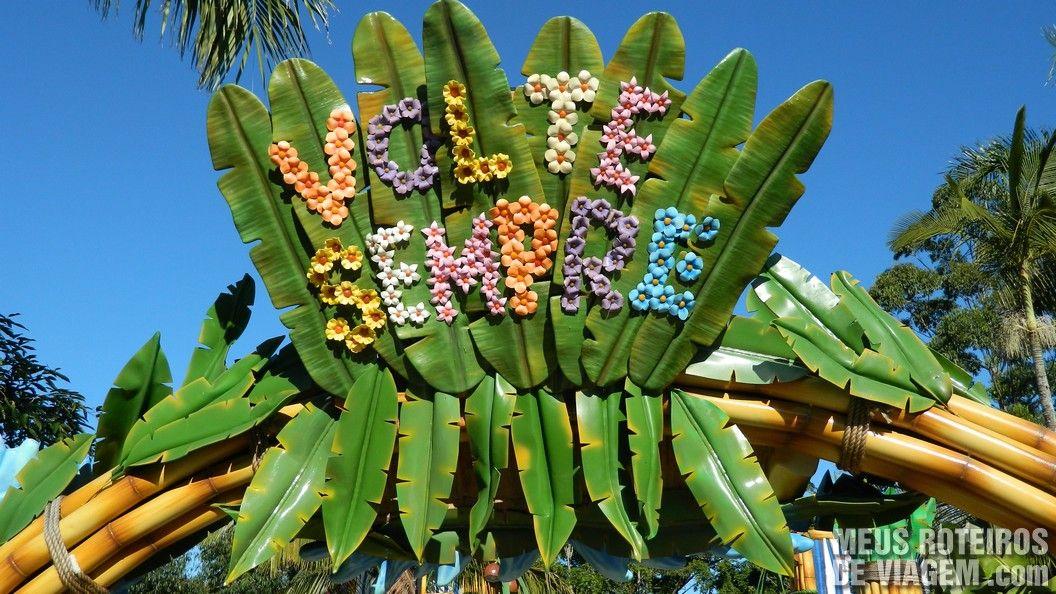 Aviso na saída da área temática Madagascar