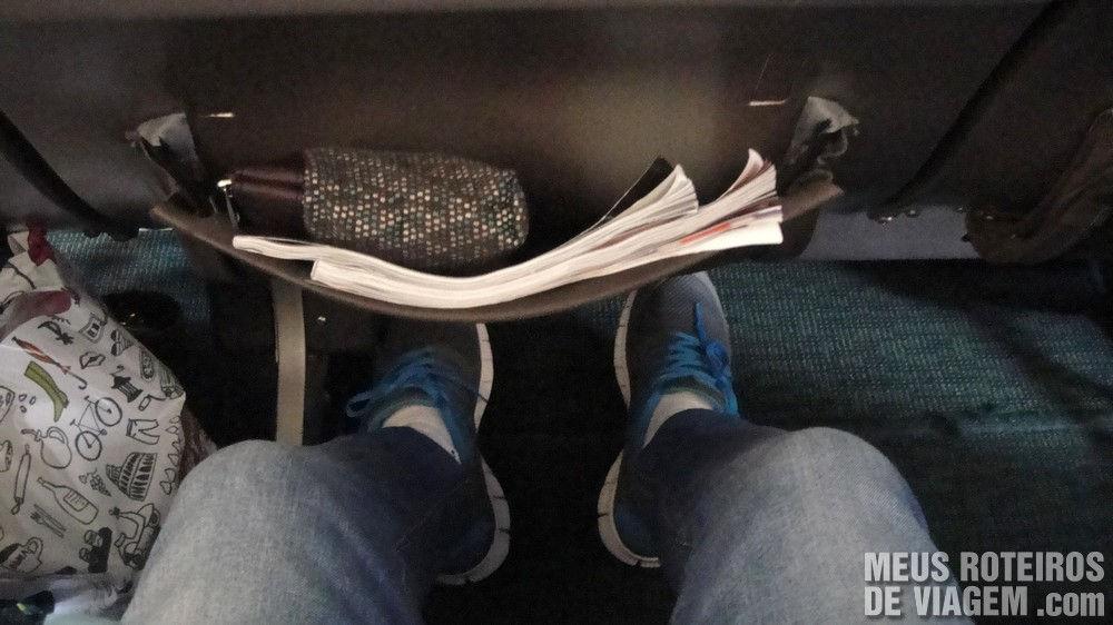 Espaço para os pés