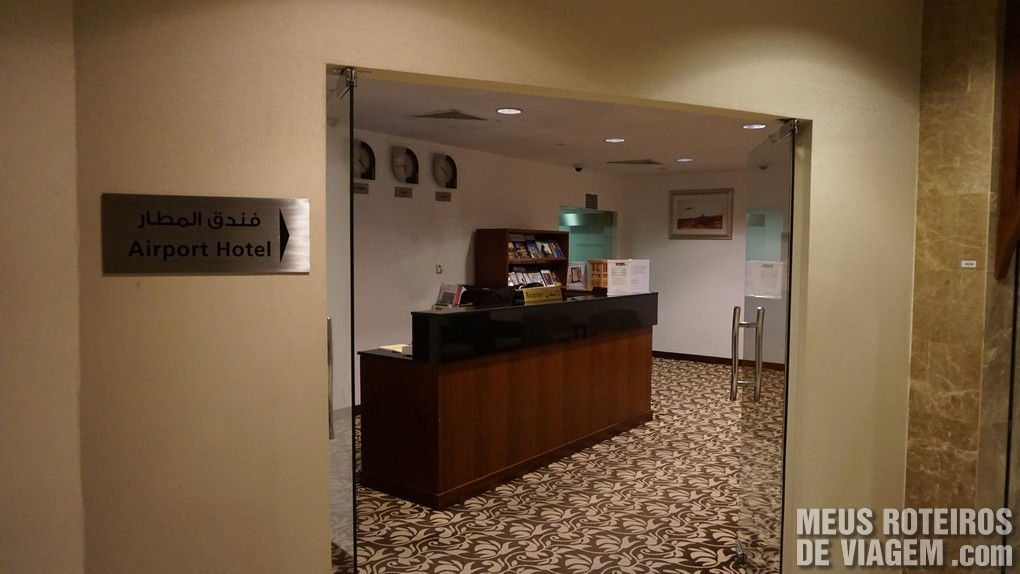 Hotel de trânsito no Aeroporto de Abu Dhabi