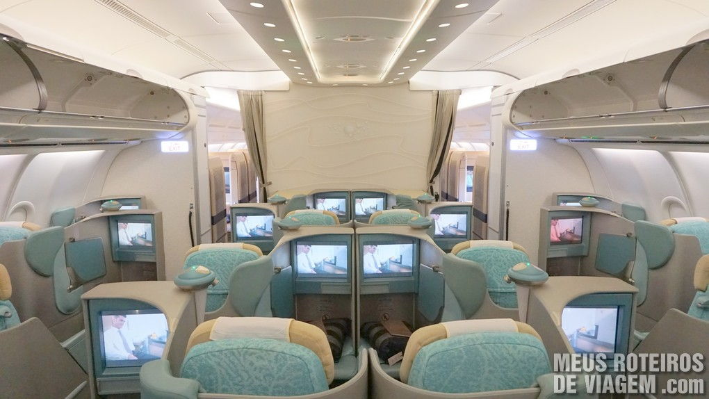 Classe Executiva Pearl no Airbus A340-600 da Etihad Airways