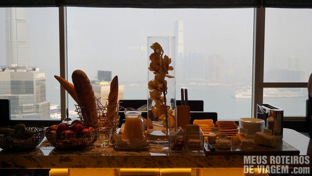 Café da manhã no Executive Lounge  - Hotel Conrad Hong Kong