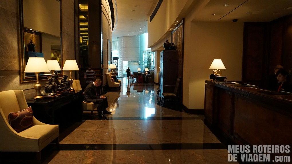 Recepção do hotel Conrad Hong Kong